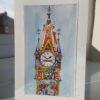 Clock tower card