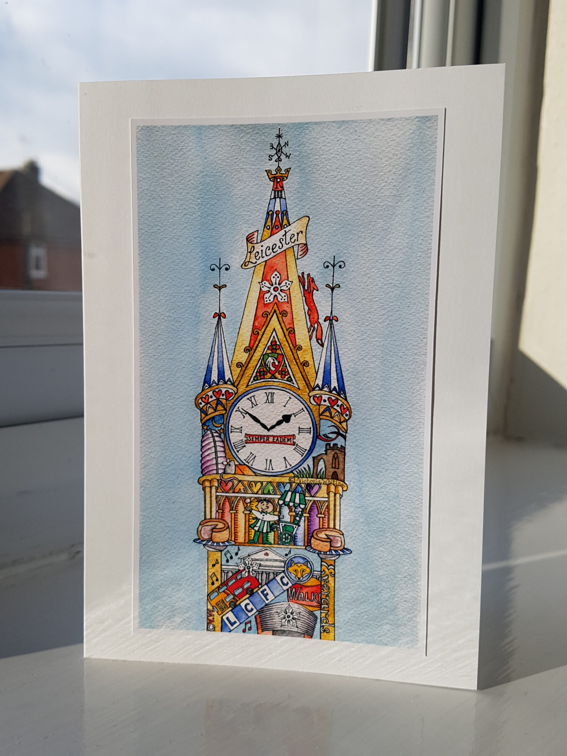 Leicester Clock Tower Card