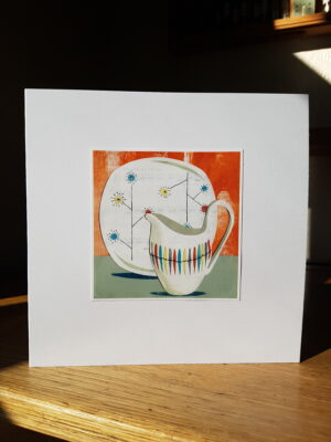 Greeting Card : Midwinter Cherokee and Flower Mist