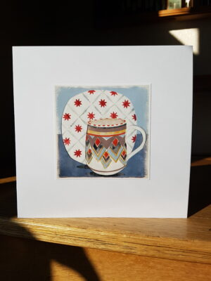 Greeting Card : Poole Jug and Midwinter Galaxy Plate