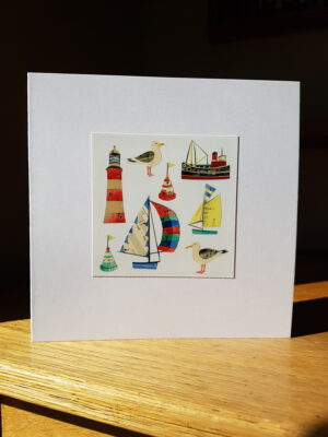 Greeting Card : Gulls and Buoys
