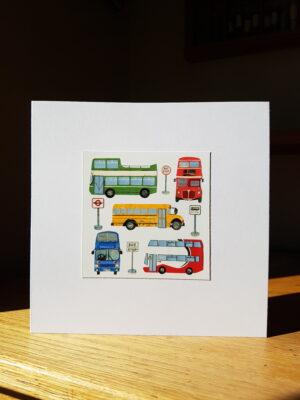 Greeting Card : Buses