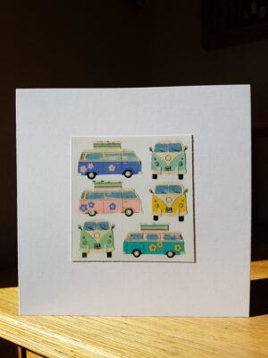 Greeting Card : Camper Vans