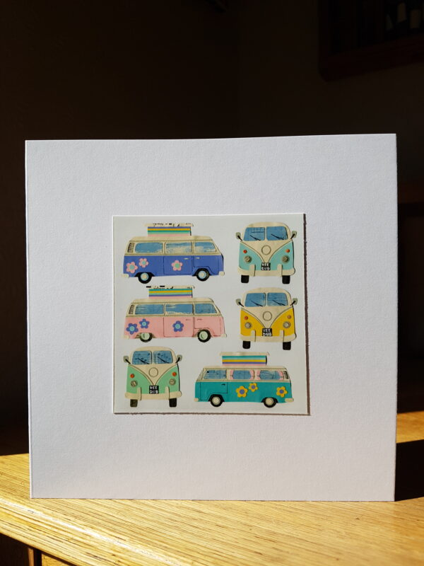 Camper Vans Collage by Victoria Whitlam