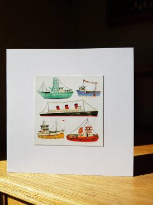 Greeting Card : Ships