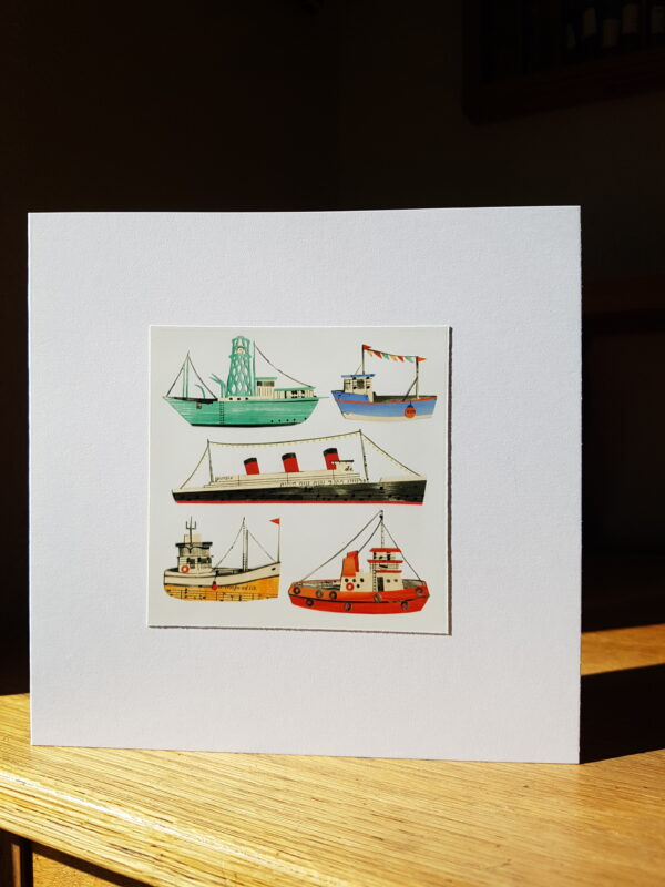 Ships Collage by Victoria Whitlam
