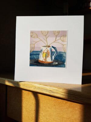 Greeting Card : Fish Jug and Honesty Seed Heads
