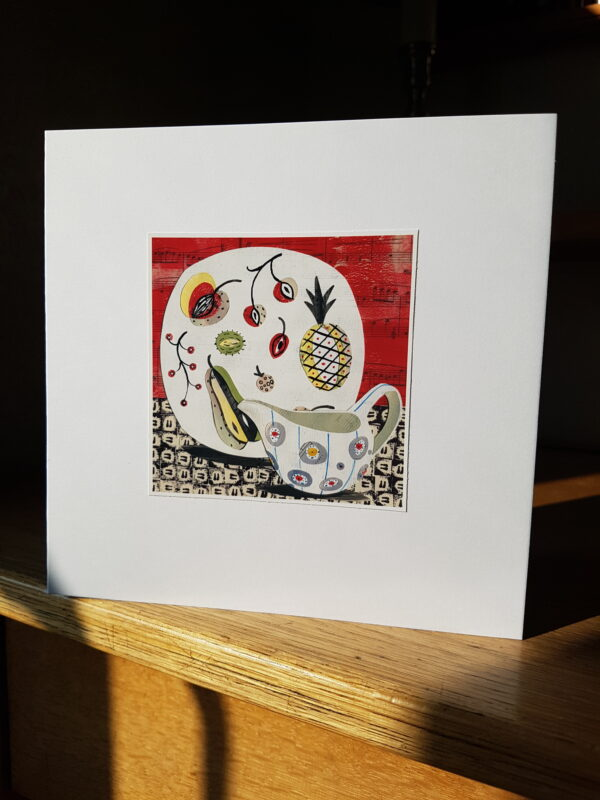 Midwinter Festival Jug and Fruit Plate Collage by Victoria Whitlam