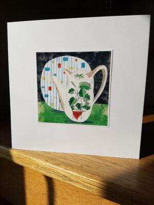 Greeting Card : Midwinter Plant Life Coffee Pot