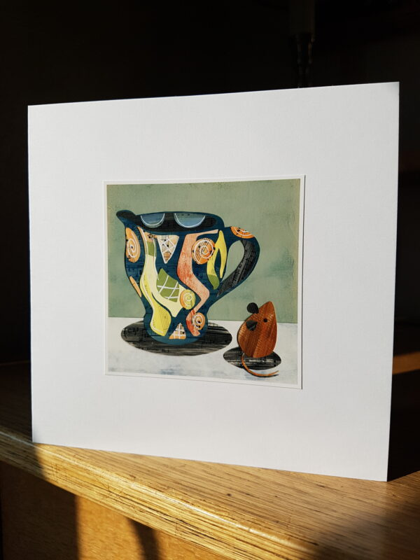 Jug and Mouse Collage by Victoria Whitlam