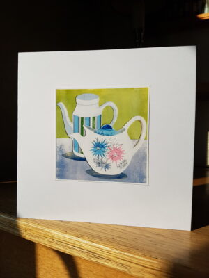 Greeting Card : Midwinter Quiet Contrary Teapot
