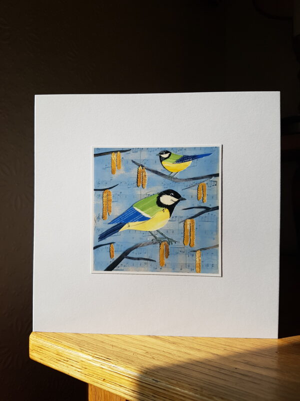 Bluetits Collage by Victoria Whitlam