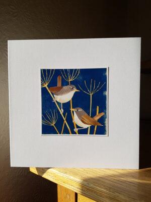 Greeting Card : Wrens
