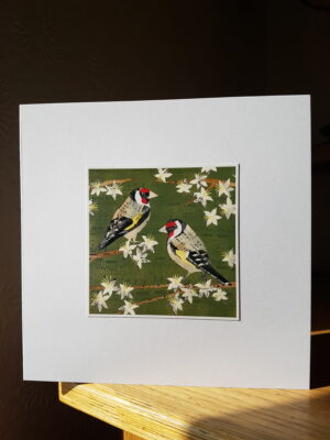 Greeting Card : Goldfinches