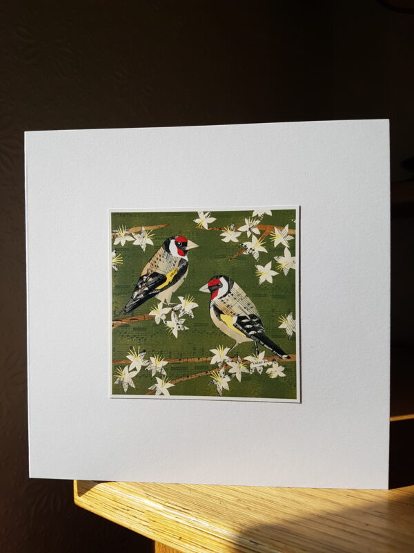 Goldfinches Collage by Victoria Whitlam