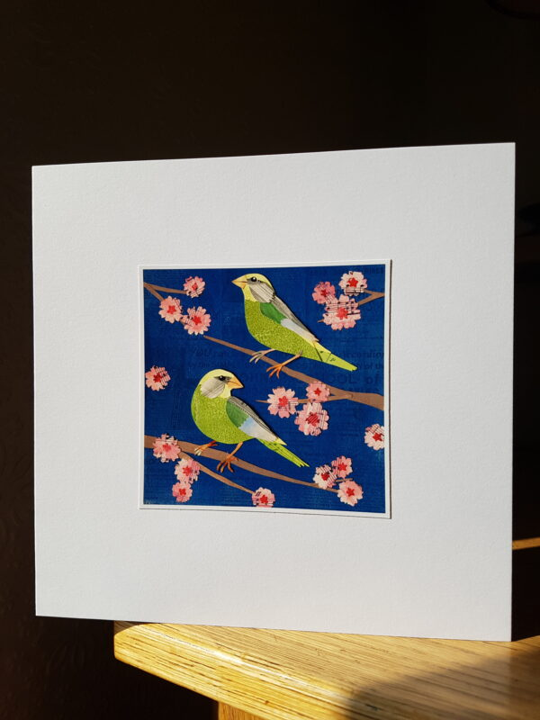 Greenfinches Collage by Victoria Whitlam