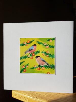 Greeting Card : Bullfinches