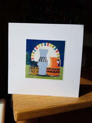 Greeting Card : Hornsea Heirloom Jug and Midwinter Plate