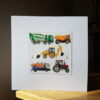 Tractor Digger Dumper collage by Victoria Whitlam