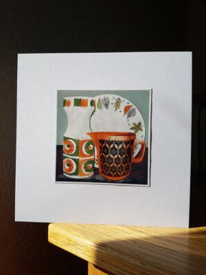 Greeting Card : Hornsea Heirloom Jug Kathie Winkle Plate