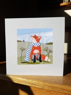 Greeting Card : Leicester Fox Card