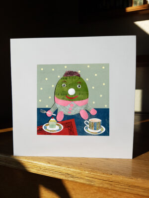 Greeting Card : Humpty came for tea
