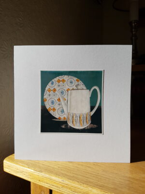 Greeting Card : Grafton Safari Coffee Pot & Kathie Winkle Compass Plate
