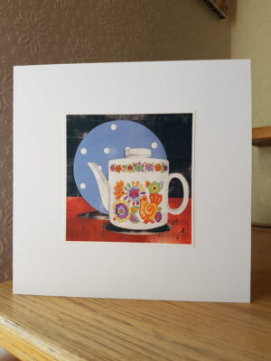 Greeting Card : Dominoware Plate and Gaytime Teapot