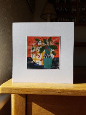 Greeting Card : Hornsea Vase  with Autumn Arrangement