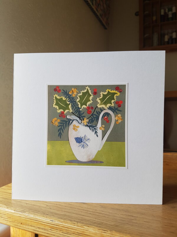 Victoria Whitlam Fir Cone Jug and Holly