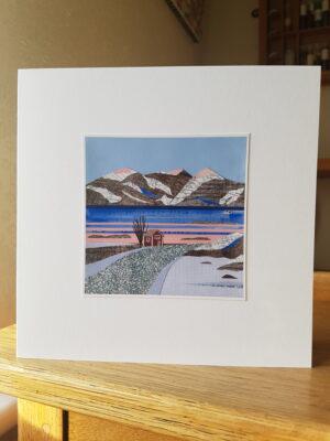 Greeting Card : Snowy Fjord