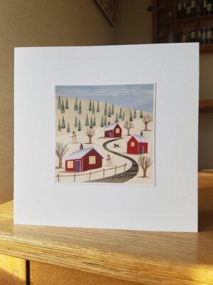 Greeting Card : Snowy Road