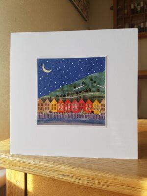 Greeting Card : Moonlit Mountain