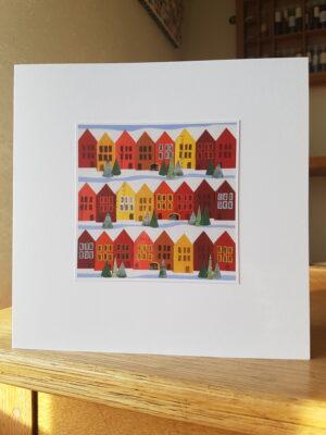 Greeting Card : Bergen House