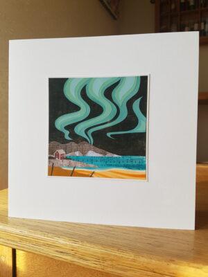 Greeting Card : Coastal Northern Lights